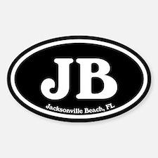 JB Jacksonville Beach Oval Sticker (Oval)