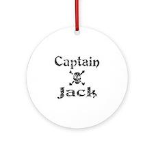 Captain Jack (distressed) Ornament (Round)