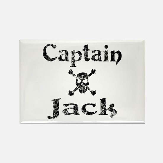 Captain Jack (distressed) Rectangle Magnet