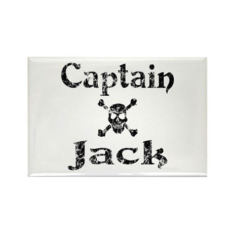 Captain Jack (distressed) Rectangle Magnet (10 pac