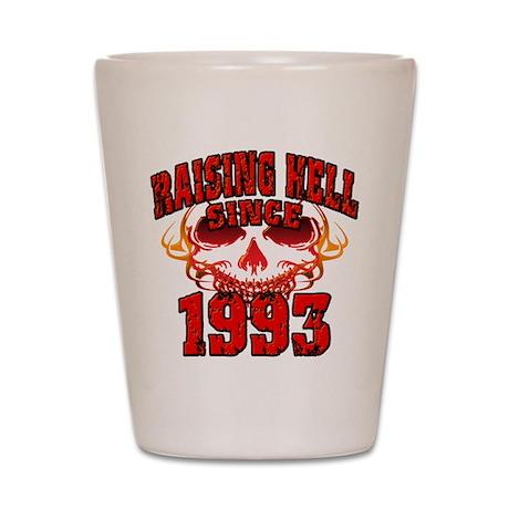Raising Hell since 1993.png Shot Glass