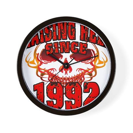 Raising Hell since 1992.png Wall Clock
