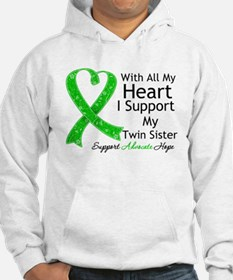 Support Twin Sister Green Ribbon Hoodie