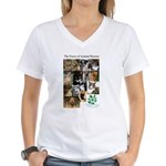 The Faces of Animal Rescue Women's V-Neck T-Shirt