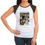 The Faces of Animal Rescue Women's Cap Sleeve T-Sh