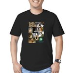 The Faces of Animal Rescue Men's Fitted T-Shirt (d