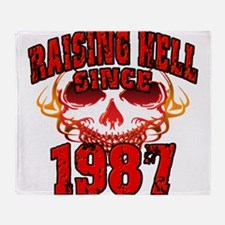Raising Hell since 1987.png Throw Blanket