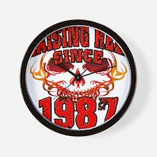 Raising Hell since 1987.png Wall Clock