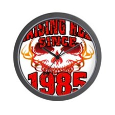 Raising Hell since 1985.png Wall Clock