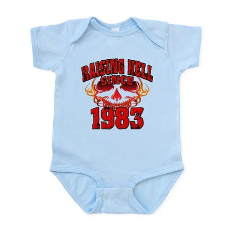 Raising Hell since 1983.png Infant Bodysuit