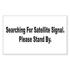 Searching For Satellite Signa Sticker (Rectangular