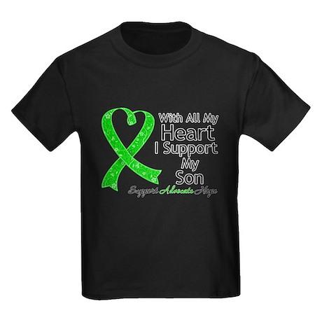 Support Son Green Ribbon Kids Dark T-Shirt