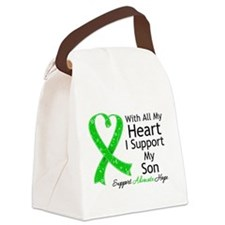 Support Son Green Ribbon Canvas Lunch Bag