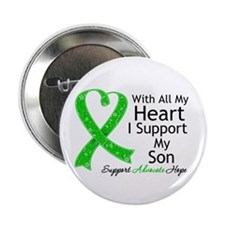 """Support Son Green Ribbon 2.25"""" Button"""