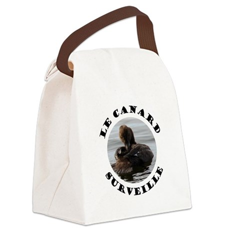 French Duck is Watching Canvas Lunch Bag