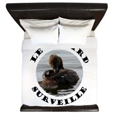 French Duck is Watching King Duvet