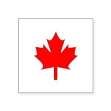 "Canadian Maple Square Sticker 3"" x 3"""