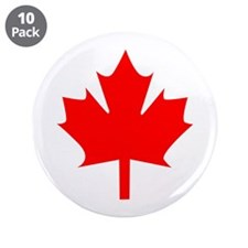 "Canadian Maple 3.5"" Button (10 pack)"