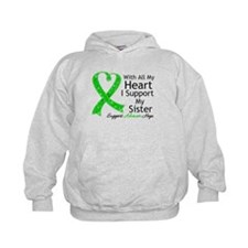 Support Sister Green Ribbon Hoodie