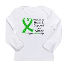 Support Sister Green Ribbon Long Sleeve Infant T-S