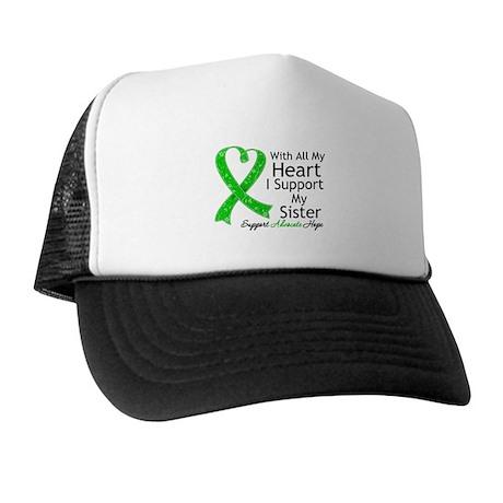 Support Sister Green Ribbon Trucker Hat