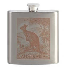 Funny Stamp collecting Flask
