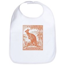 Cute Wallabies Bib