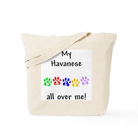 Havanese Walks Tote Bag