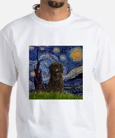 Starry Night & Affenpinscher T-Shirt