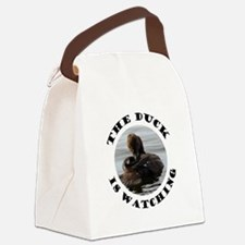 The Duck is Watching Canvas Lunch Bag