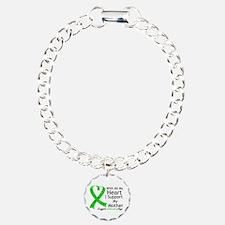 Support Mother Green Ribbon Bracelet