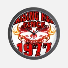 Raising Hell since 1977.png Wall Clock
