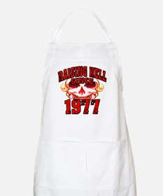 Raising Hell since 1977.png Apron