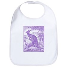 Funny Wallabies Bib