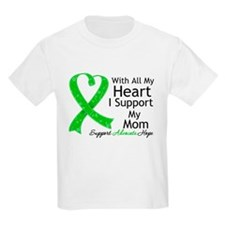Support Mom Green Ribbon T-Shirt