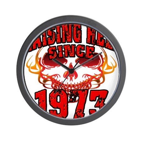 Raising Hell since 1973.png Wall Clock