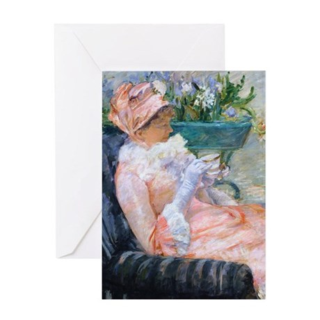 Cassatt - Cup of Tea Greeting Card