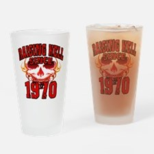 Raising Hell Since 1970 Drinking Glass