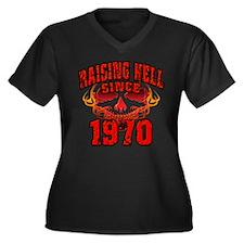 Raising Hell Since 1970 Women's Plus Size V-Neck D