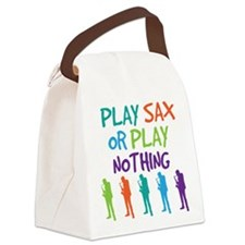 Funny Play Saxophone Canvas Lunch Bag