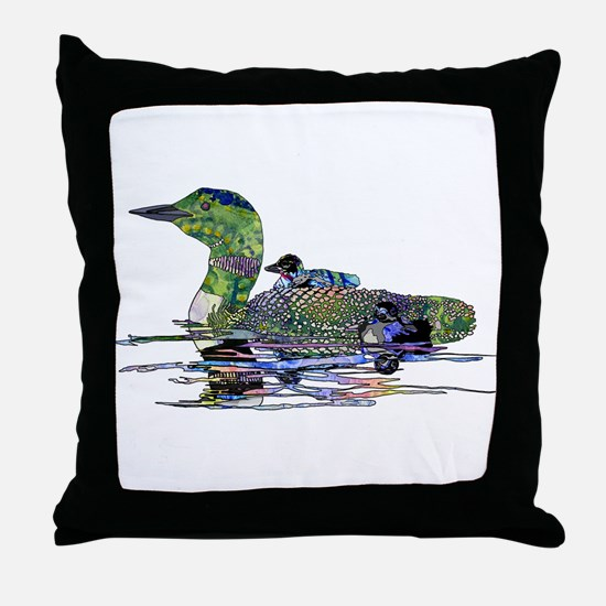 Colorful Loon Throw Pillow