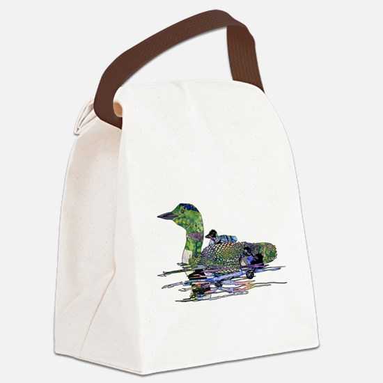 Colorful Loon Canvas Lunch Bag