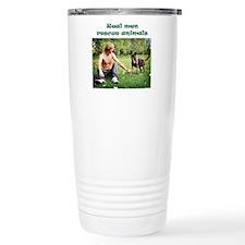 Real Men Rescue Animals Stainless Steel Travel Mug
