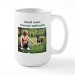 Real Men Rescue Animals Large Mug