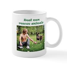 Real Men Rescue Animals Mug