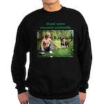 Real Men Rescue Animals Sweatshirt (dark)