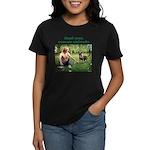 Real Men Rescue Animals Women's Dark T-Shirt