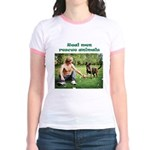 Real Men Rescue Animals Jr. Ringer T-Shirt