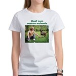 Real Men Rescue Animals Women's T-Shirt