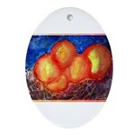 Oranges Ornament (Oval)